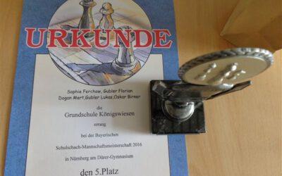 Bayerische Meisterschaften im Schulschach 2016